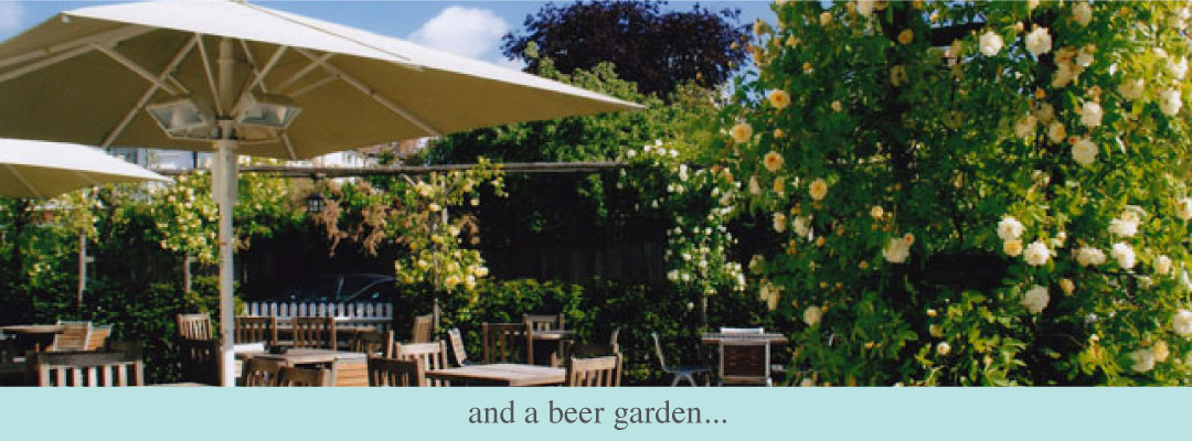 The Plough East Sheen beer garden